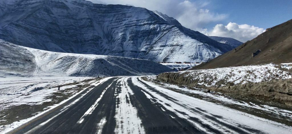 Snow clad roads of Ladakh