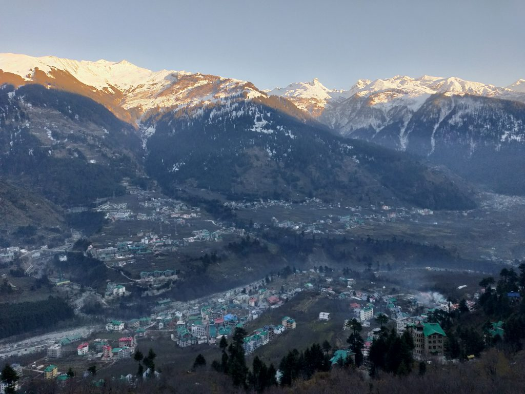 Vistas of Manali seen from our Homestay , on the epic Manali Leh road trip journey