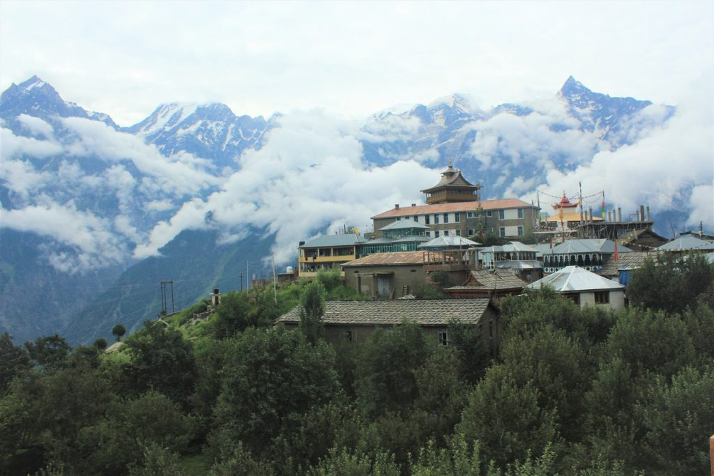 Kalpa monastery seen from our Homestay in the region