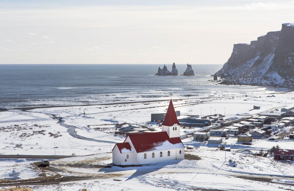 The coastal town of Vik , explored on our Iceland self drive trip
