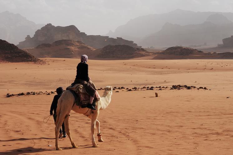 Camel Safari at Wadi Rum in our Jordan Experience