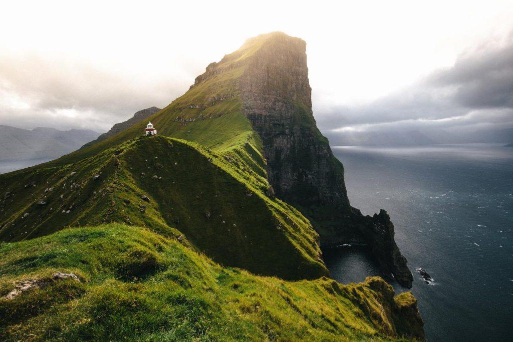 Faroese island hiking trails
