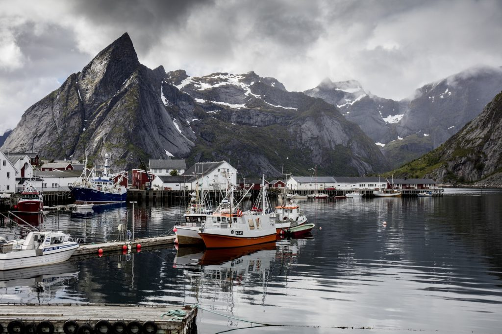 Coastal fishing town in Norway , we explore whilst on our Road trip of the country