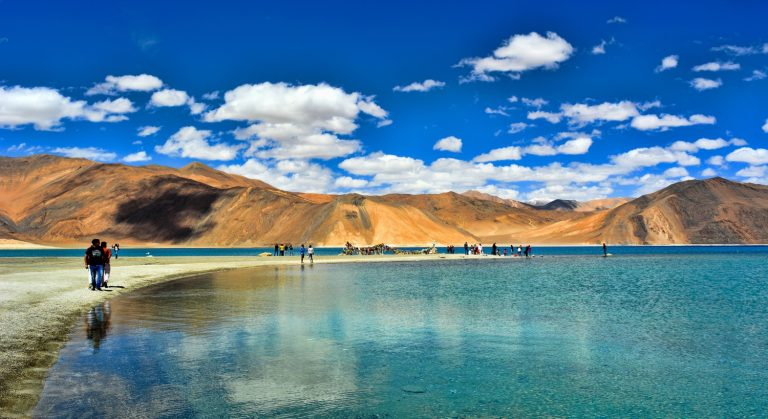 Shore of the Pangong Tso , High in the Himalayas