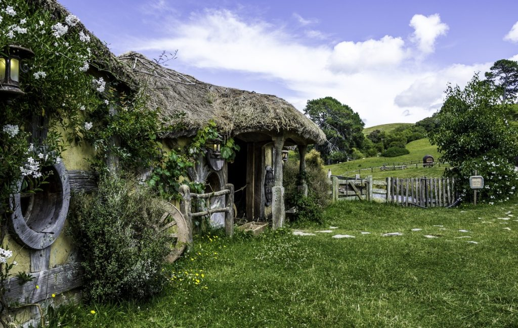Hobbiton village exploration while on a Self Drive New Zealand Journey