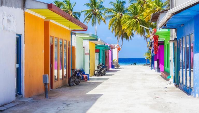 Colourful Streets of Maafushi Island