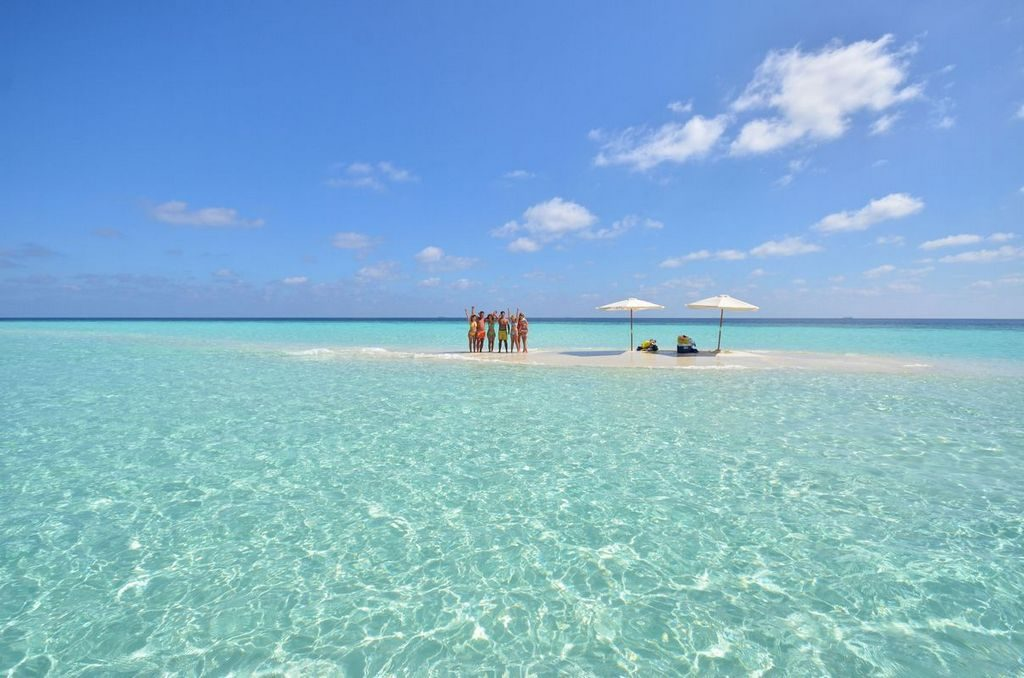 Sand Bank Picnic Maldives Vacation
