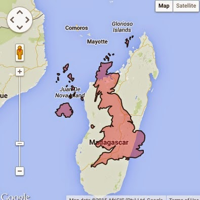 Madagascar Facts - Size Comparison